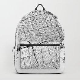 Toronto Map White Backpack