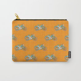 Retro motorcycle king of the road Carry-All Pouch