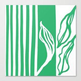 Long Leaf Stripe green Canvas Print