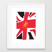 uk Framed Art Prints featuring UK by John Choi King