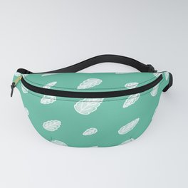 Cute Cartoon Leaves Seamless Vector Pattern Fanny Pack