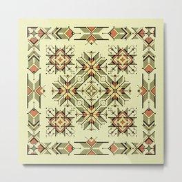equilibrium | boho pattern Metal Print
