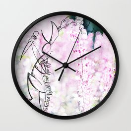 """If you wander, Parades will find you"" Wall Clock"