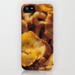Chantarelle mushrooms. iPhone Case