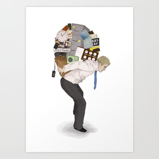 The Weight of Technology #2 Art Print
