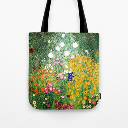 """Gustav Klimt """"Flower garden"""" Tote Bag"""