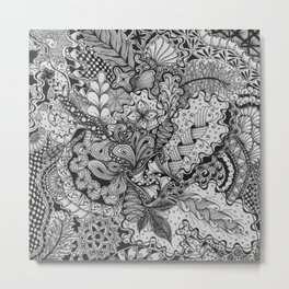 Zentangle®-Inspired Art - ZIA 79 Metal Print