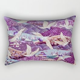 Elegant Birds of the Same Feather Rectangular Pillow