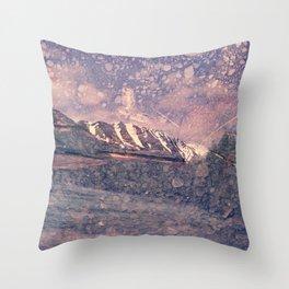 Alaska, Exposed: Mountain & Gravel Throw Pillow