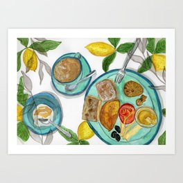 The summary breakfast Art Print