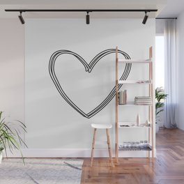 Coupled Heart Wall Mural