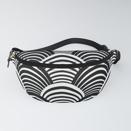 Black and White Art Deco Pattern Fanny Pack