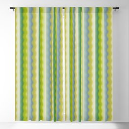 Green Waves Blackout Curtain