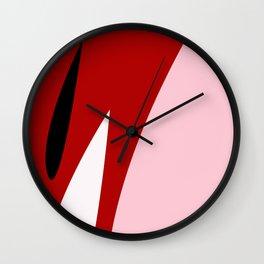 Abstract Flower Red #red #pink #artdeco #fresh #spring #minimal #art #design #kirovair #buyart #deco Wall Clock