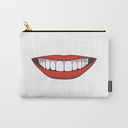 Smiling female mouth with healthy teeth Carry-All Pouch