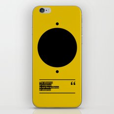 THE ABSENCE OF EVIDENCE iPhone & iPod Skin
