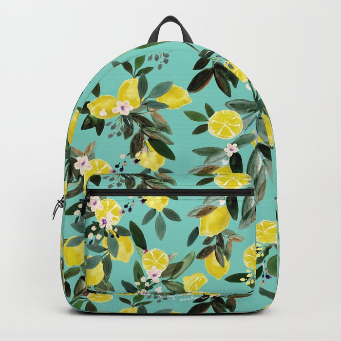 Summer Lemon Floral Rucksack
