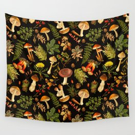 Vintage & Shabby Chic - Autumn Harvest Black Wall Tapestry