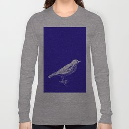 Blue Bird in the Snow Long Sleeve T-shirt