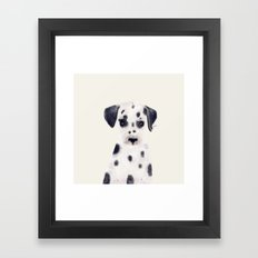 little dalmatian Framed Art Print