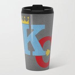 Kansas City Sports Red & Blue Travel Mug
