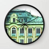 political Wall Clocks featuring Political building. by Alejandra Triana Muñoz (Alejandra Sweet