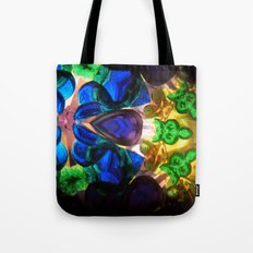Kaleido: Blue, Green, Yellow Tote Bag