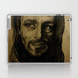 Underworld film. Coal portrait of lycan Lucian. actor Michael Sheen. Портрет углем ликана Люциана Laptop & iPad Skin