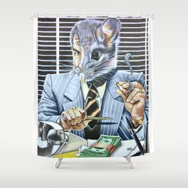 Dirty Rat Shower Curtain