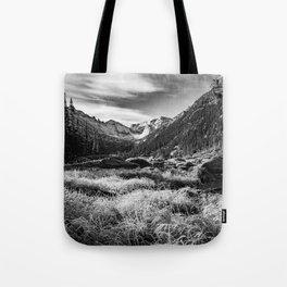 Black and White Colorado Landscape Tote Bag