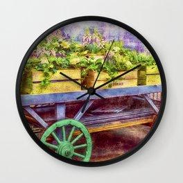 Market Flowers Wall Clock