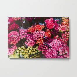 Flower Market in Hong Kong Metal Print