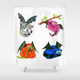 Iggy through the Pages Shower Curtain