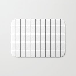 City Grid Bath Mat