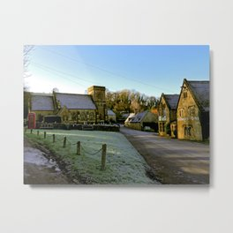 Frosty Snowshill Metal Print