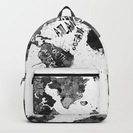 world map color splatter 4 Backpack