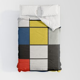 Piet Mondrian - Large Composition A with Black, Red, Gray, Yellow and Blue, 1930 Artwork Comforters