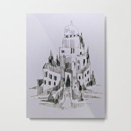 Tilted Welcomings Metal Print