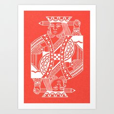 Creativity Is King Art Print
