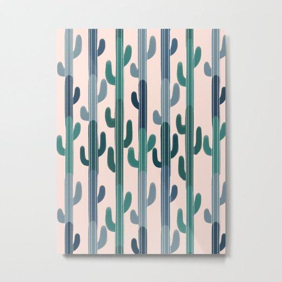 Cactus Lines Metal Print