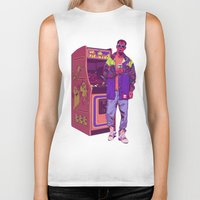 monster Biker Tanks featuring Monster Arcade by Mike Wrobel