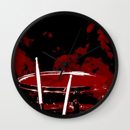 RED SMOKE DARK Wall Clock