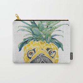 Pineapple  Pug Watercolor Carry-All Pouch