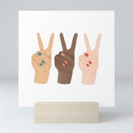 Peace Hands Mini Art Print