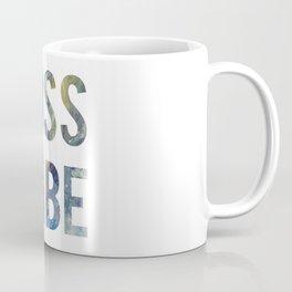 Boss Babe Blue Typography Art for Entrepreneurs Coffee Mug