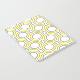 Polygonal pattern - Golden Yellow and Gray Notebook