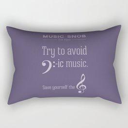 Bass-ic Music — Music Snob Tip #310 Rectangular Pillow