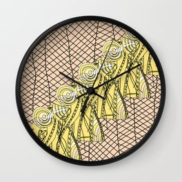 Fishnet Gold Wall Clock
