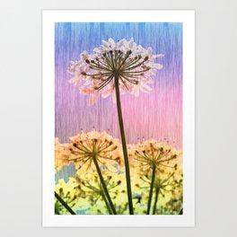 Multi Colour Parsley Art Print