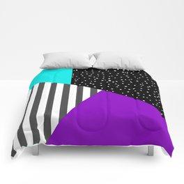 Geometric patchwork 6 Comforters
